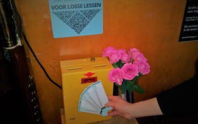 Strippenkaart stempelen bij losse lessen