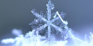 sneeuwvlok in licht